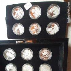 Medallas temáticas: 18 MEDALLAS DE PLATA PURA CONTRASTADA 999. COLECCIÓN RAZA ESPAÑOLA. Lote 221949400