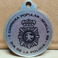 Medallas temáticas: MEDALLA I CARRERA POPULAR SEVILLA 89. DÍA DE LA POLICÍA. MEDALLA-189. Lote 221956817
