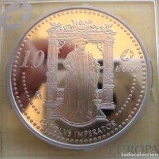 """Medallas temáticas: JUAN CARLOS I: 10 € - 2006 ''CARLOS IMPERATOR"""" (27 GR. DE PLATA PURA)./ LUJO, PROOF.. Lote 221972786"""