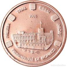 Medallas temáticas: MÓNACO, MEDALLA, 1 C, ESSAI TRIAL, 2005, SC, COBRE. Lote 221984405