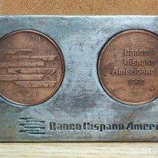 Medallas temáticas: PLACA BANCO HISPANO AMERICANO 1981 MEDALLA-196. Lote 221999941