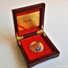 Medallas temáticas: MONEDA ORO INDEPENDIENCIA DE CATALUÑA 2014 GOLD PLATED EN CAJA + CERTIFICADO. Lote 222290670