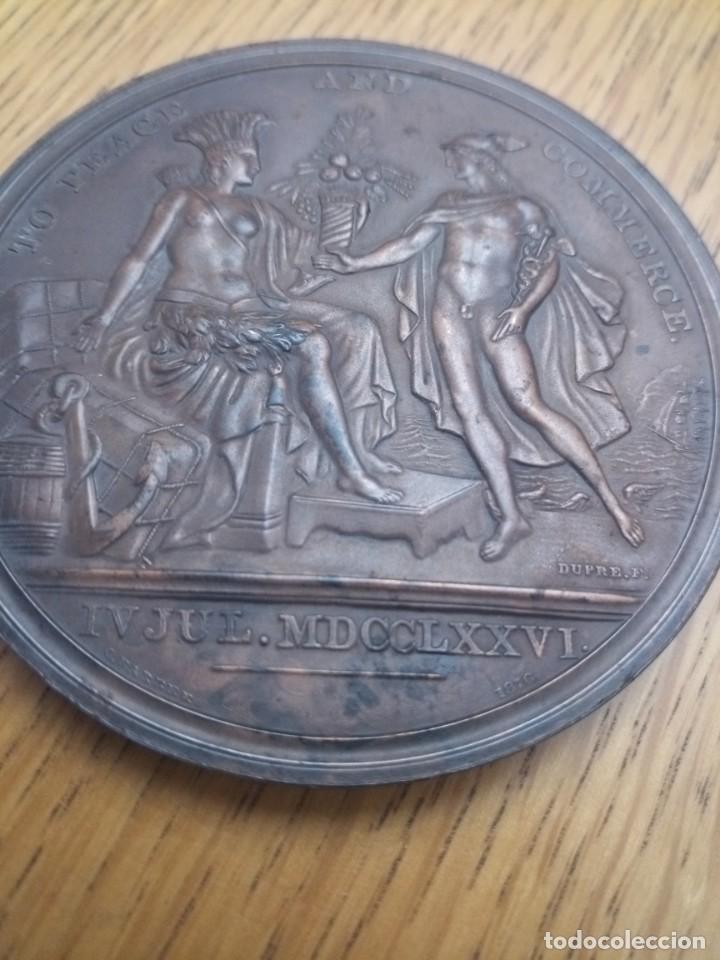 MEDALLA BRONCE ESTADOS UNIDOS INDEPENDENCIA 1776 (Numismática - Medallería - Temática)