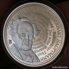Medallas temáticas: 07B. MUY ESCASA. BAÑO PLATA 999. ALEMANIA. 150A GERHART HAUPTMANN. 2012. 9,2G / 32MM. Lote 222787071