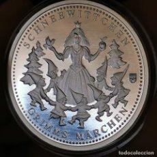 Medallas temáticas: 07B. MUY ESCASA. BAÑO PLATA 999. ALEMANIA. BLANCANIEVES. H. GRIMM. 2013. 9,2G / 32MM. Lote 222787178