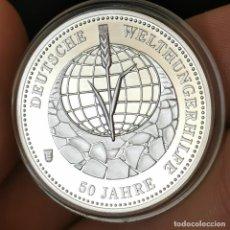 Medallas temáticas: 07B. MUY ESCASA. BAÑO PLATA 999. ALEMANIA. 50A WELTHUNGERHILFE. 2012. 9,2G / 32MM. Lote 222787540