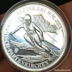Medallas temáticas: 07B. MUY ESCASA. BAÑO PLATA 999. ALEMANIA. C. M. ESQUÍ ALPINO 2011. 2010. 9,2G / 32MM. Lote 222787697