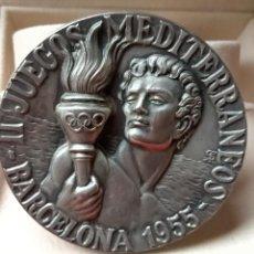 Medallas temáticas: BARCELONA MEDALLA DE PLATA DE LOS II JUEGOS MEDITERRANEOS CEREBRADOS DEL 16 AL 25 DEL 07 DEL 1955. Lote 223259211