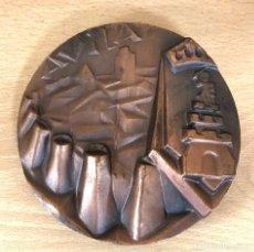 Medalhas temáticas: MEDALLA BRONCE CIUDAD DE AVILA. FIRMADA POR SOMOZA.. Lote 223328630