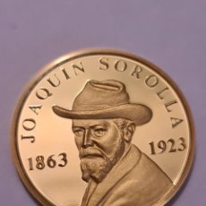 Medallas temáticas: MONEDA / MEDALLA ORO 917/1000 17 GRAMOS 32 MM JOAQUIN SOROLLA.. SALIENDO DEL BAÑO. Lote 224605226