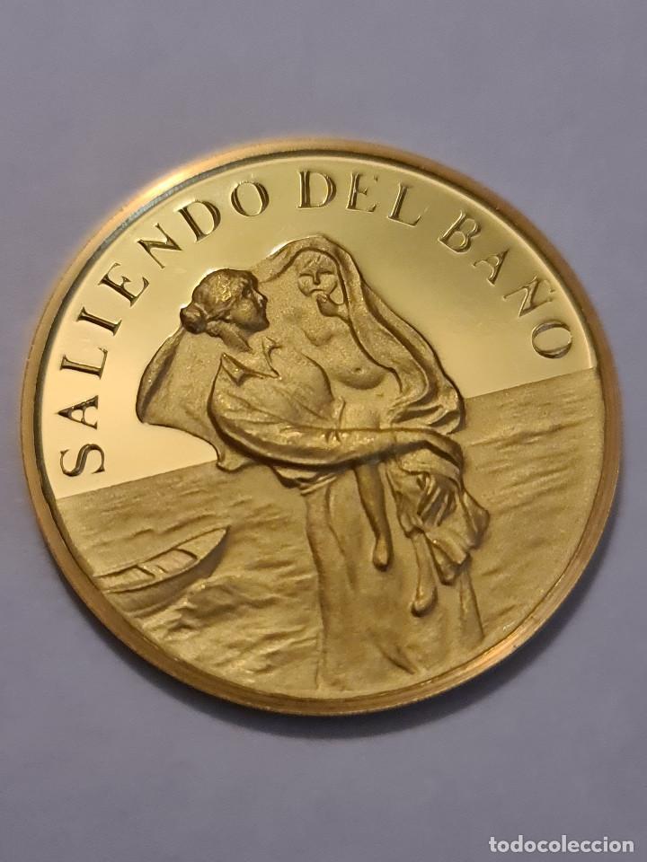 Medallas temáticas: Moneda / Medalla Oro 917/1000 17 gramos 32 mm JOAQUIN SOROLLA.. SALIENDO DEL BAÑO - Foto 2 - 224605226