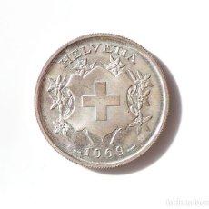 Medallas temáticas: SUIZA.- MEDALLA EN PLATA LEY 900/1000. HELVETICA 1969 RESPUBLICA NOVICASTRI.. Lote 225352552