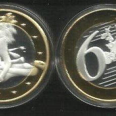Médailles thématiques: MONEDA EROTICA DE FANTASIA- PRUEBA DE 6 EUROS SEX- KAMASUTRA - MODELO 3 - TOKEN SEXY. Lote 226033490