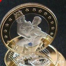 Médailles thématiques: MONEDA EROTICA DE FANTASIA- PRUEBA DE 6 EUROS SEX- KAMASUTRA - MODELO 5 - TOKEN SEXY. Lote 226033730