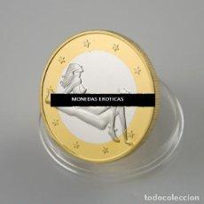 Médailles thématiques: MONEDA EROTICA DE FANTASIA- PRUEBA DE 6 EUROS SEX- KAMASUTRA - MODELO 15 - TOKEN SEXY. Lote 226034626