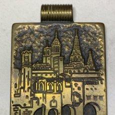 Médailles thématiques: MEDALLA DE BARCELONA - BARRIÓ GÓTICO - FIRMADA POR A. BISBE - ANAGRAMA EN CAJA AB. Lote 226103182