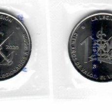 Medallas temáticas: MEDALLA 100 AÑOS DE LA LEGIÓN AÑO 2020 Y SELLOS DE REGALO. Lote 226224793