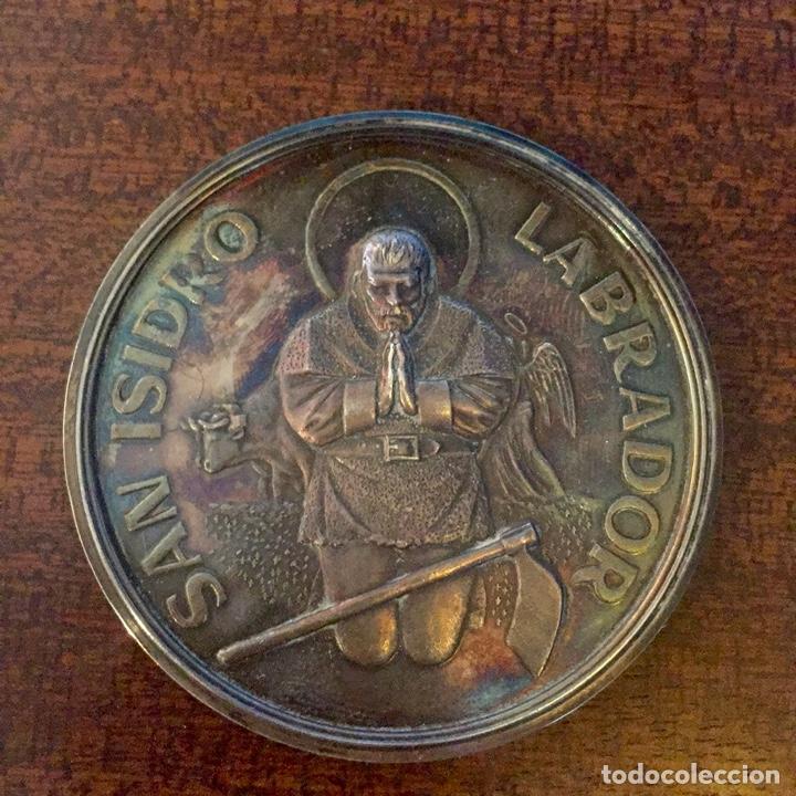 GRAN MEDALLA PLATA SAN ISIDRO LABRADOR - MADRID (MÓDULO GRANDE) (Numismática - Medallería - Temática)