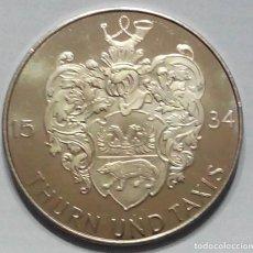 Medallas temáticas: ALEMANIA MEDALLA 500 AÑOS CORREO POSTAL 1490-1990. Lote 226655505