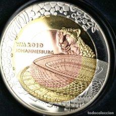 Medalhas temáticas: #AA350. ESCASA TRIMETÁLICA PROOF. MEDALLA CMF SUDÁFRICA 2010. 21,9G / 40MM. Lote 226824189