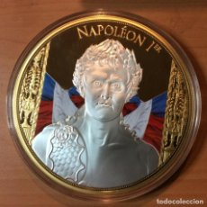 Medallas temáticas: GRAN MEDALLON XXXL DE NAPOLEON BONAPARTE EDICION MUY LIMITADA CON SU CERTIFICADO. Lote 227221165