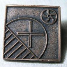 Medallas temáticas: MEDALLA AJUNTAMENT DE SANT VICENÇ DE MONTALT (BARCELONA) - CUADRADA - 5 CM. Lote 228071010