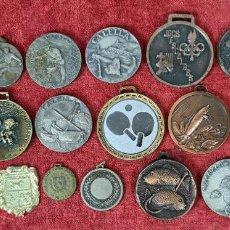 Medallas temáticas: COLECCION DE 20 MEDALLAS. METAL. VARIAS TEMÁTICAS DE CALELLA. AÑOS 70-80.. Lote 228454915