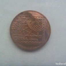 Medallas temáticas: COLECCIONISMO EXPO´92 DE SEVILLA : MEDALLA O FICHA RUMBO AL 92. ESPAÑA CORREOS , SEVILLA 1988. Lote 230805040