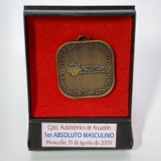 Medalhas temáticas: MEDALLA, CAMPEONATO AUTONÓMICO DE ACUATLON MONCOFAR 15 DE AGOSTO 2009. Lote 231224640