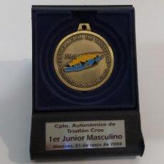 Medallas temáticas: MEDALLA, CAMPEONATO AUTONOMICO DE TRIATLON CROS, MANISES 21 DE JUNIO DE 2008. Lote 231231765