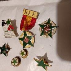 Medallas temáticas: LOTE DE PINS -O- MEDALLA HISPANA KONGRESO ESPERANTO Y IFEF BARCELONO ESPANIO 1956/61/63. Lote 231797525
