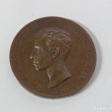 Medallas temáticas: MEDALLA MAYORIA DE EDAD DE ALFONSO XIII, 1902 (6 CMS. DE DIAMETRO), GRABADOR: B. MAURA, TAL COMO SE. Lote 234181140
