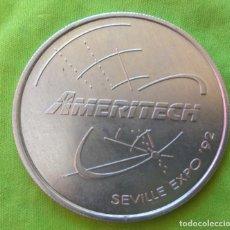Medallas temáticas: MEDALLA AMERITECH EXPO 92 SEVILLA THE WIRELESS EVOLUTION. Lote 234356340