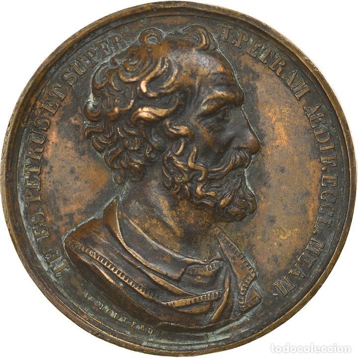 VATICANO, MEDALLA, LE PAPE PIE IX, MOUTERDE, BC+, BRONCE (Numismática - Medallería - Temática)