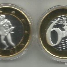 Medallas temáticas: MONEDA EROTICA DE FANTASIA- PRUEBA - 6 EUROS SEX- KAMASUTRA - MODELO 12 - TOKEN SEXY. Lote 235094590