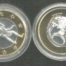 Medallas temáticas: MONEDA EROTICA DE FANTASIA- PRUEBA - 6 EUROS SEX- KAMASUTRA - MODELO 31 - TOKEN SEXY. Lote 235096115