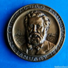 Medallas temáticas: MEDALLA BRONCE. CENTENARIIO. NAVIERA - SEL MADURO- CURACAO 1837-1937. ENVIO CERTIFICADO INCLUIDO.. Lote 235140090
