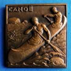 Medallas temáticas: MEDALLA BRONCE - ART DECO FRANCIA. - - CANOE-CANOA-KAYAK- ENVIO CERTIFICADO INCLUIDO.. Lote 235152020