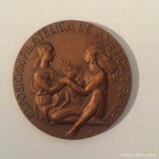Medallas temáticas: MEDALLA EXPOSICION FILATELICA DE AMERICA Y EUROPA-ESPAMER 80 (MADRID 1980). Lote 235328195