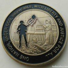 Medallas temáticas: IMPRESIONANTE MONEDA 11 SEPTIEMBRE 2001. Lote 235344890