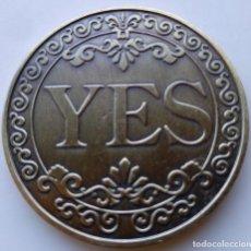 Medallas temáticas: ESPECTACULAR MONEDA SI/NO SUERTE. Lote 235345210