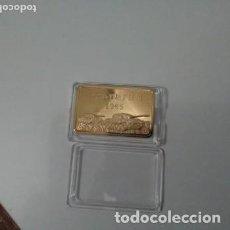 Medallas temáticas: LINGOTE DORADO DEL LEOPARD I - AÑO 1965. Lote 235404175