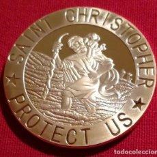 Medallas temáticas: MONEDA ORO CONMEMORATIVA DE SAN CRISTOPHER PATRON DE LOS CONDUCTORES Y VIAJEROS. Lote 235822280