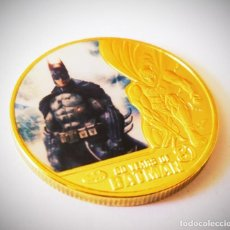 Medallas temáticas: FANTÁSTICA MONEDA DE ORO DE COLECCION DE BATMAN. Lote 235856655