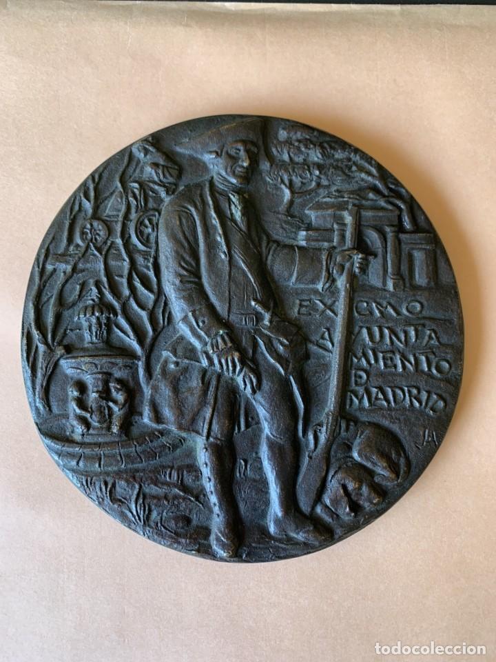GRAN MEDALLA FUNDIDA EN BRONCE - AYUNTAMIENTO DE MADRID - 1978 (Numismática - Medallería - Temática)