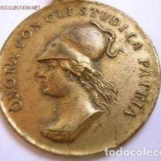 Medallas temáticas: MEDALLA ANTIGUA DE BRONCE ITALIANA.GENOVA. ASOCIACION LITERARIA CIENTIFICA. Lote 235945165