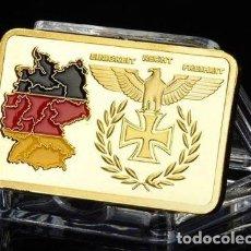 Medallas temáticas: LINGOTE ORO III REICH REUNIFICACION ALEMANIA Y CRUZ DE HIERRO. Lote 236027730