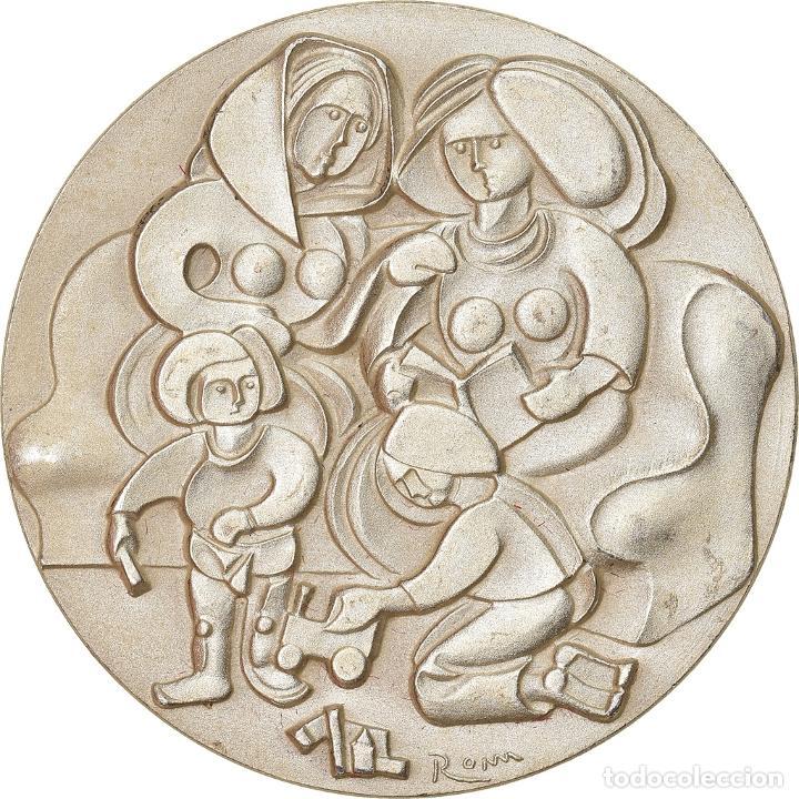 SUIZA, MEDALLA, MUTTER TAG, 1987, SC, PLATA (Numismática - Medallería - Temática)