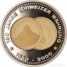 Medallas temáticas: SUIZA, MEDALLA, 150 ANS DE LA MONNAIE SUISSE, MATTERHORN, 2000, SC+, COBRE -. Lote 236378970