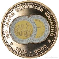 Medallas temáticas: SUIZA, MEDALLA, 150 ANS DE LA MONNAIE SUISSE, CHALANDAMARZ, 2000, SC+, COBRE -. Lote 236378975